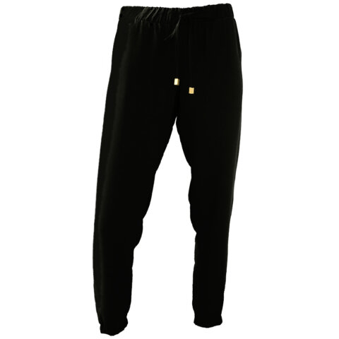 Elastic Cuff Pants (Black)